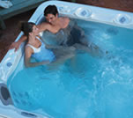 Picture of a couple enjoying a hot tub
