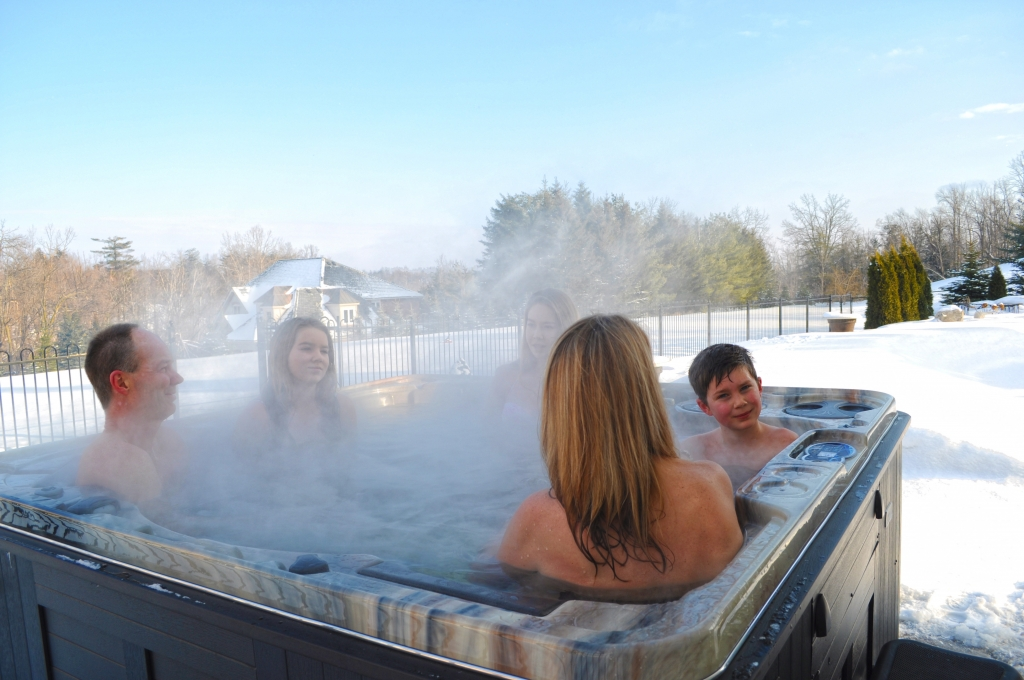 Residential Hot Tubs in an Overseas Setting - Gold Award - Hydropool UK